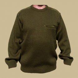 Kötött bőrbetétes pulóver