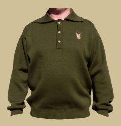 Kötött galléros pulóver extra méret