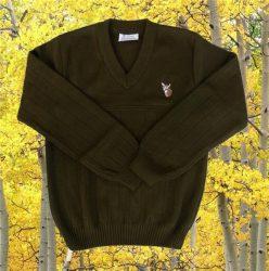 Szarvasos kötött pulóver