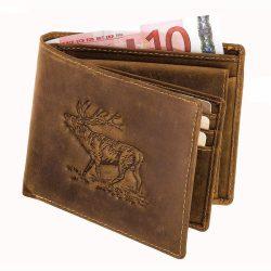 Akah Antik-Leder bőr pénztárca fekvő prémium